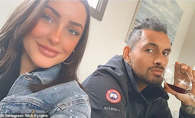 Nick Kyrgios was asked again about his new girlfriend Chiara Passari (pictured) on Tuesday