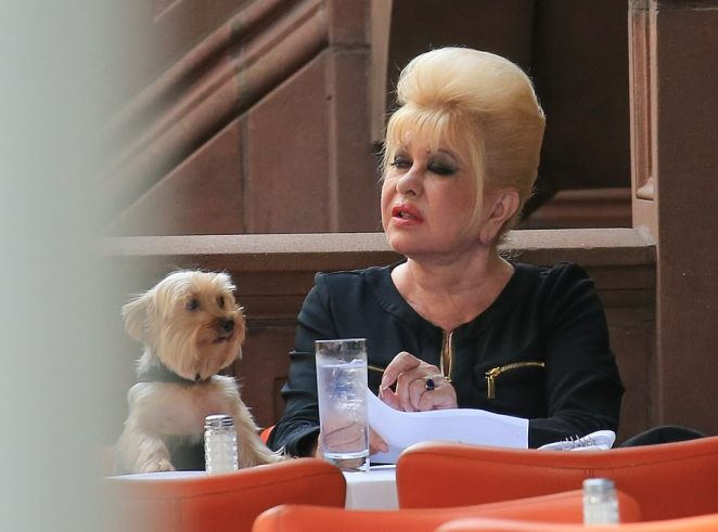 Ivana appeared to be sleepy even as she ordered her pasta meal in Manhattan on Monday afternoon