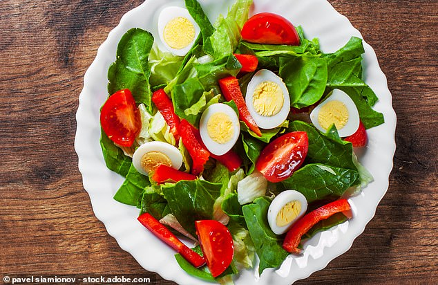 Mediterranean Salad with Eggs