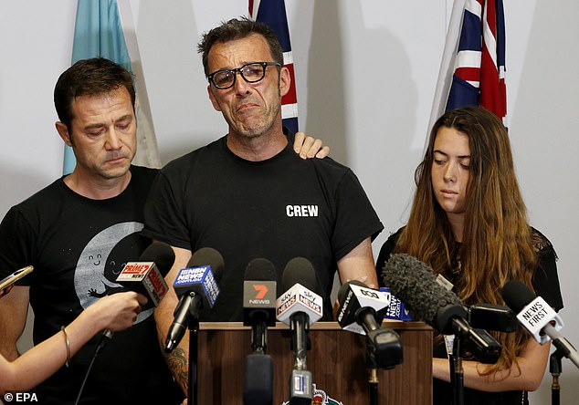 In the lead up to this confirmation, the Belgian backpacker's father, Laurent Hayez (pictured), called for calm in the search for both missing people