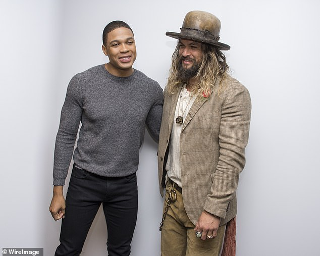 Standing together: Justice League star Jason Momoa (right) made it abundantly clear he's standing proudly by the side of Ray Fisher (left) after he leveled serious allegations of mistreatment on the Justice League reshoots from director Joss Whedon