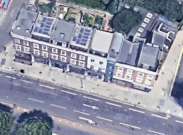 Your own slice of London: The house shown on Google Streetview, towards the right end of the block on Goldhawk Road