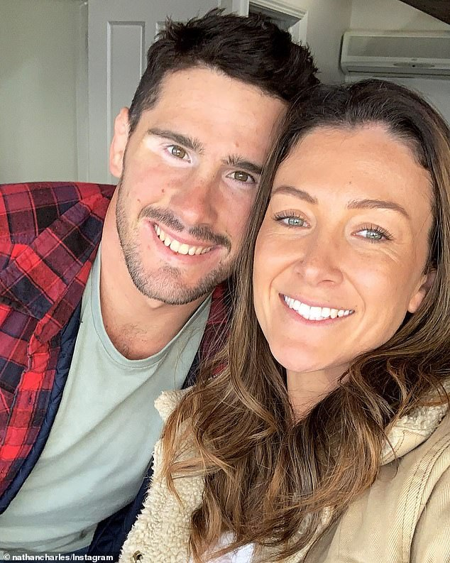 Charles took to Facebook Live on Sunday and also thanked her fans for their positive messages (pictured with husband Nathan)