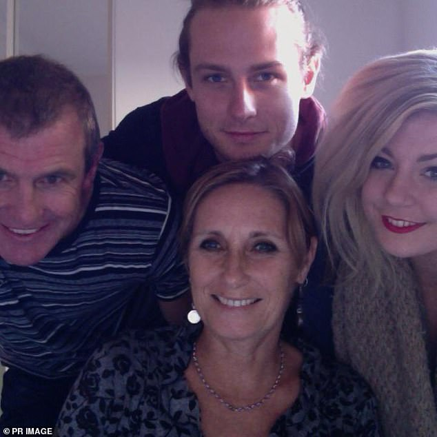 Cy Walsh pictured with his father Phil, mother Meredith and sister Quinn before the tragedy