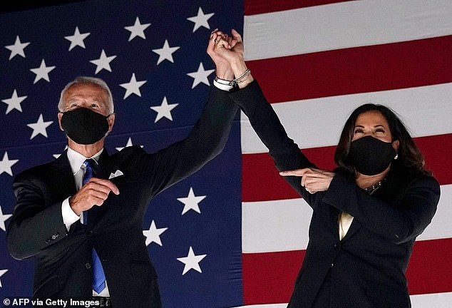 Former vice president and Democratic presidential nominee Joe Biden and Senator from California and Democratic vice presidential nominee Kamala Harris pictured in August