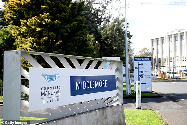 Epiha was handcuffed to one officer and flanked by another when she escaped from Middlemore Hospital (pictured)