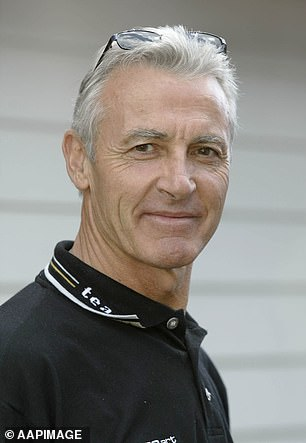 The late champion race car driver Peter Brock (pictured) was Diamond's sporting idol