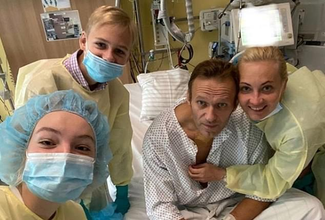 Russian opposition leader Alexei Navalny - pictured in a new Instagram post - is being treated at a German hospital after being poisoned with Novichok