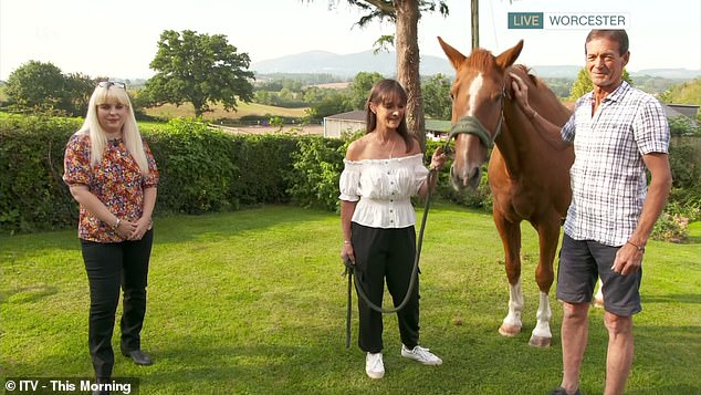 Beth Lee-Crowther (pictured left) , from the West Midlands,claims she can communicate with animals and says a horse predicted her friend Caroline McKain (pictured right with her new partner) would meet her soulmate
