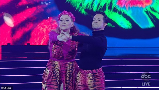 Season premiere: Baskin performed to the Eye Of The Tiger on Monday with pro partner Pasha Pashkov during the season 29 premiere of Dancing With The Stars on ABC