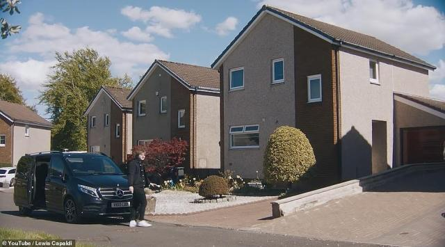 Close by: Momesickness won't be an issue, with his new purchase based just 30-miles from the Capaldi family home in Bathgate, West Lothian (pictured)