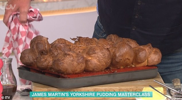 Yum!Presenters Phillip and Holly Willoughby were treated to an all-ready made Yorkshire pudding during the segment