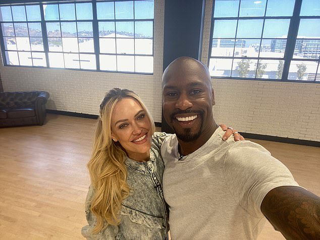 Davis gushed about his dance partner Peta: 'She's the most unbelievable person I've ever met. She's very patient, she's a good teacher and just one of those types of people that you want to be around all the time'