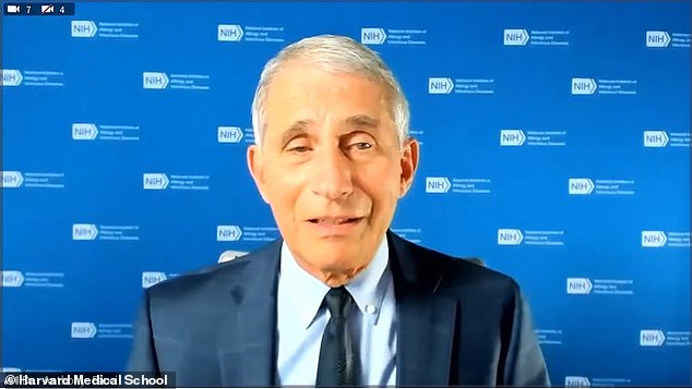Meanwhile Dr. Anthony Fauci warned Americans to 'hunker down' to prepare to get through the winter