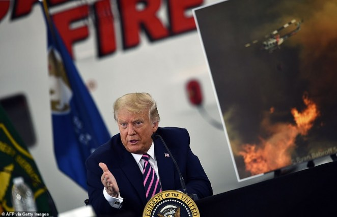 The governors of California, Oregon and Washington have all said global warming is priming forests for wildfires as they become hotter and drier. But during a visit Monday to California, President Trump pointed to how states manage forests and said, 'It will start getting cooler, just you watch'