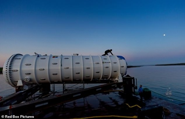 The data centre before it was dropped into the sea two years ago. It's successfully provided cloud services from the bottom of the ocean