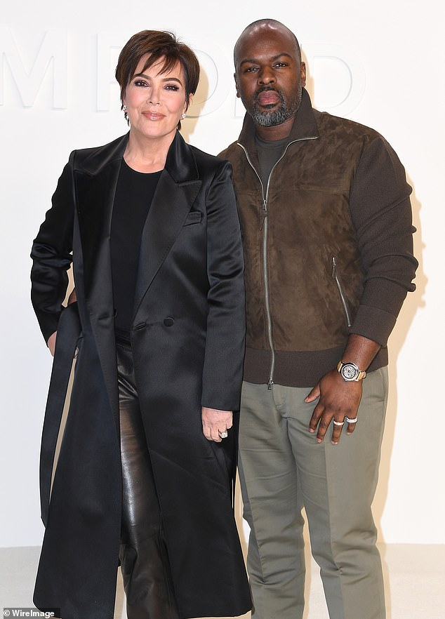 They will not walk down the aisle:'Kris is still with Corey but she's not engaged and they won't get engaged,' a friend told The Sun; seen in February in Hollywood