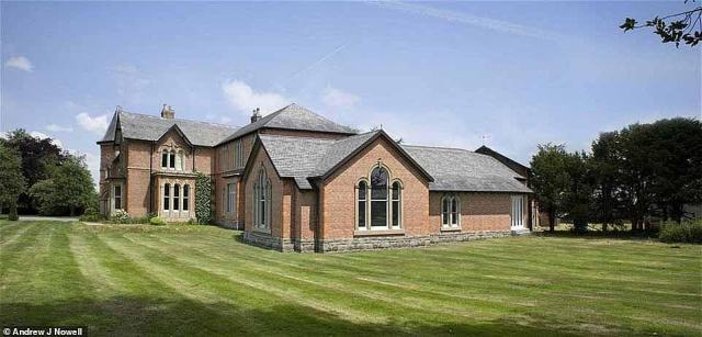 Expensive:Warford Hall has been on the market since 2013, the market price has not been revealed by the seller, however the property was record as being listed in 2015 for around £14.5 million in 2015