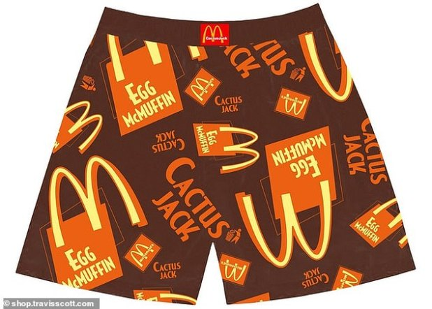 What a sight!  The collection also includes these Egg McMuffin shorts