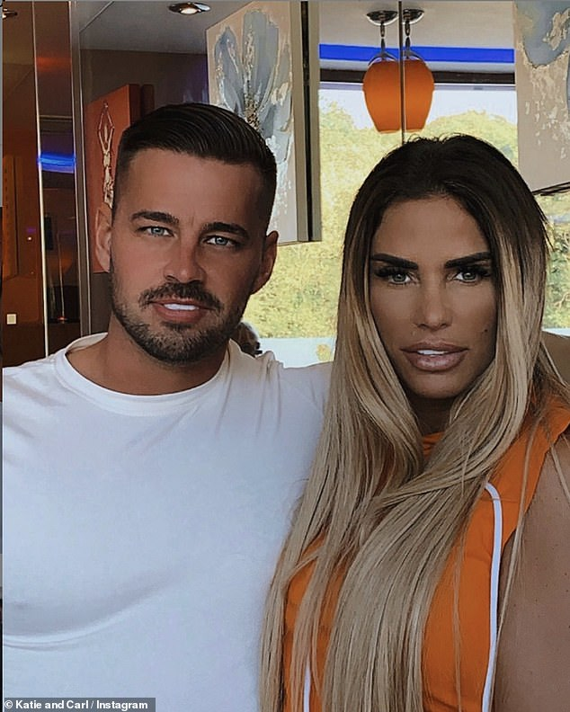 Hotting up! The glamour model has been dating former Love Island star Carl for three months, yet things have moved very quickly between the pair