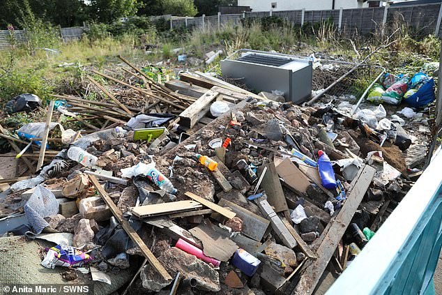 Residents complained the dumped waste was a danger to children and vulnerable pedestrians