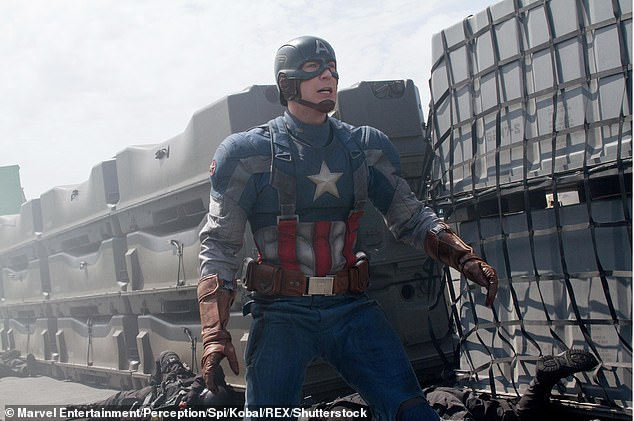 Support from his fans:Many Twitter users called out those who searched for the nude photos and posting them because Chris did not consent to it; pictured in Captain America: The Winter Soldier