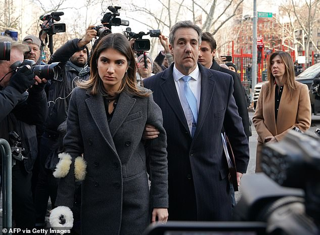 Cohen does nothing to stop the man talking in explicit terms about his teenage daughter's body. He continues to offer up more photos of her, bragging about a photo shoot she did with famed Victoria's Secret photographer Russell James. Samantha is pictured with her father outside court in 2018 when he was sentencedto three years in prison