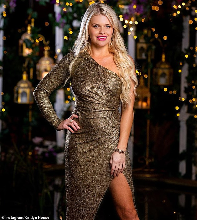 The argument led to Ms Hoppe (pictured) leaving the club, while Tomic - a regular patron - was allowed to stay. Daily Mail Australia understands the pair have been involved in an on-and-off relationship for a number of years, including following Ms Hoppe's season of The Bachelor