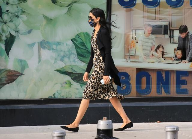 Abedin - who is one of Hillary Clinton's closest confidantes - was pictured following the school drop-off