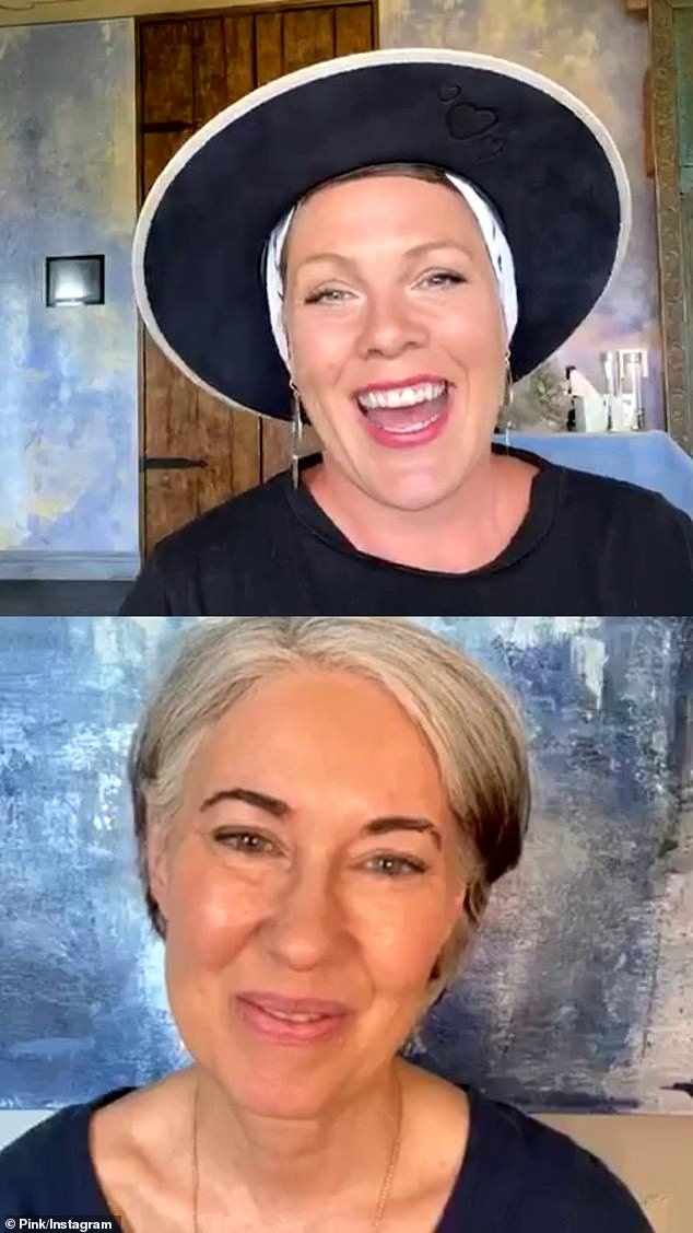 "Pink said to Inn (below) during their one-hour Instagram Live conversation on June 19: ""Without Vanessa, who has translated for me for the past 18 years, we wouldn't be together. We just wouldn't '"