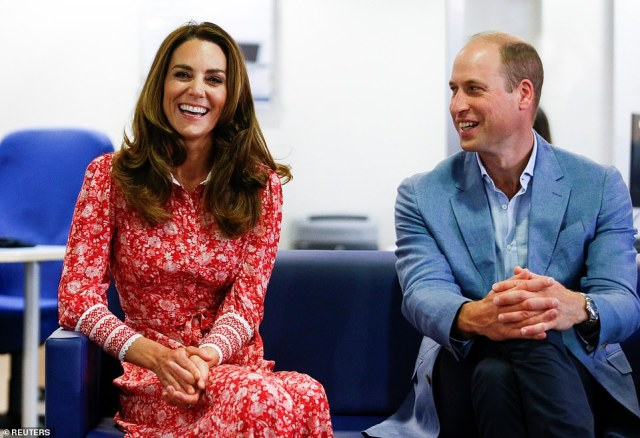 Prince William and Kate appeared in high spirits as they undertook the engagements in London earlier today and spoke with  to people looking for work at the London Bridge Jobcentre
