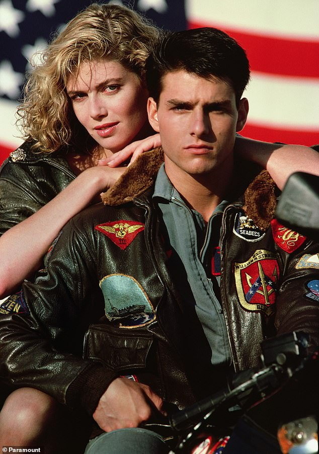 Filmmakers behind the Top Gun franchise have also been accused of changing the film's content to avoid censorship in China. Top Gun stars Tom Cruise (right) and Kelly McGillis (left) are seen above in a promotional image for the original 1986 film