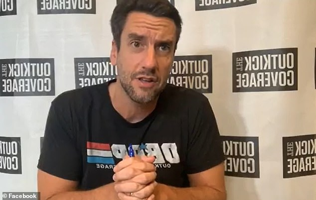 Sports radio show host Clay Travis (pictured), facilitated the call between Trump and Warren about reinstating the fall season, according to Sports Business Journal, which reported the White House's goal of starting the season in October