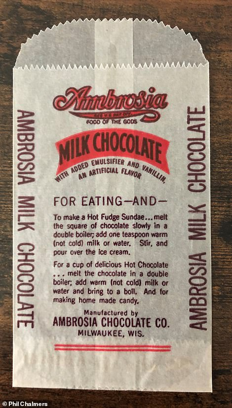 Above, a wrapper from the candy factory that Jeffrey Dahmer worked at in Milwaukee