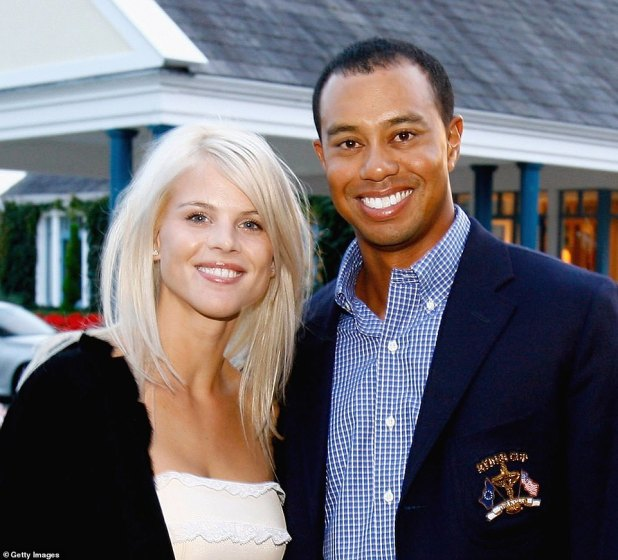 Nordgren and Woods split in 2010 after several golfer infidelities surfaced.  They are featured together in 2006