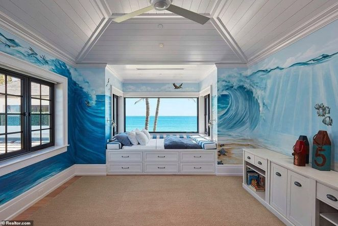 Several of the 11 bedrooms appear perfect for children, with their walls featuring soothing, hand painted scenes