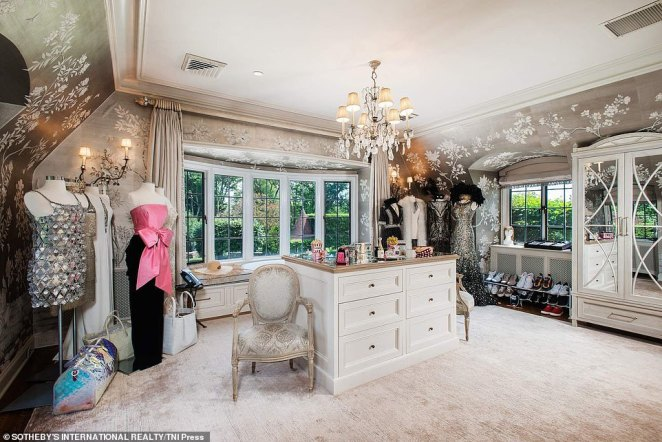 The home features three spacious powder rooms, including this one, which was used by Hilfiger's wife