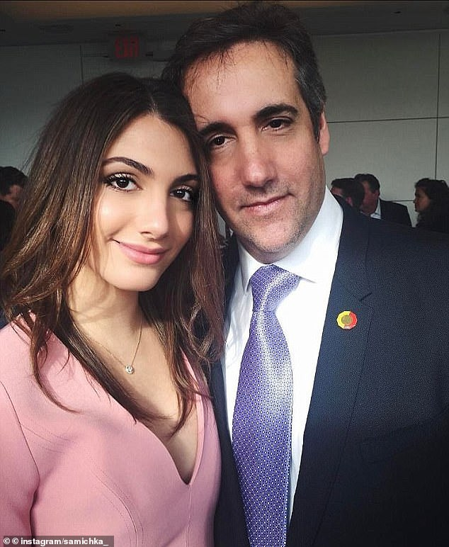Michael Cohen is heard laughing while a friend praises his daughter Samantha's body and tries to guess the size of her breasts, audio obtained exclusively by DailyMail.com reveals.Upon seeing a photo of Samantha, the man exclaimed: 'What the f**k is that? Holy s**t. My god. Holy s**t, she's gorgeous. What is she B-cup, C-cup? She's a good looking girl, man. Gorgeous. Look at this body man'