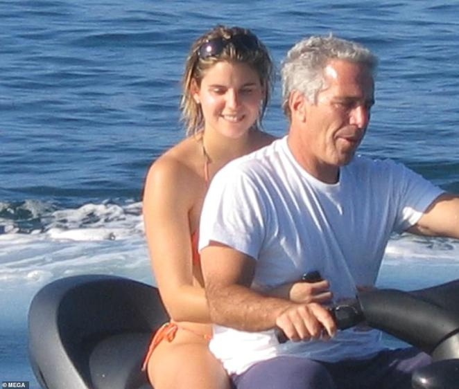 In a previous interview with DailyMail.com, Kellen's parents voiced their fear that she could be the next person arrested in the sex trafficking ring. The insider said Epstein and Kellen (pictured) were extremely close with Kellen 'always by his side'. They said: 'She was his shadow. She stayed close to him at all times with her notebook that was color coordinated and she was constantly taking notes about anything that he wanted'