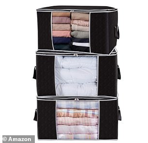 The set comes with three bags so you'll have plenty of room to store unworn clothes, towels and bedding