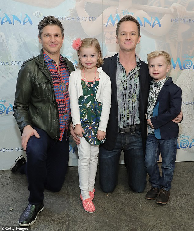 On the mend: Neil Patrick Harris, 47, revealed Tuesday on Today that he and his husband David Burtka, 45, and their nine-year-old twins Gideon and Harper all contracted COVID-19 this year; shown in 2016