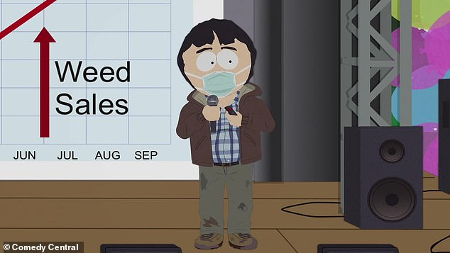 Cashing in:Randy Marsh, father to one of South Park's main characters named Stan, commences the trailer by boisterously announcing 'a Pandemic Special'