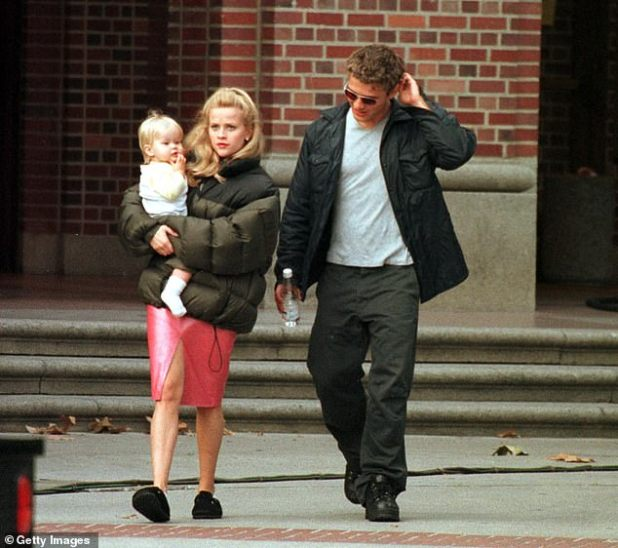 Witherspoon recalled: 'I had made films, but I didn't know, you have established yourself as someone who can demand that it be shot close to my children's school or, you know , I had no real power, whose benefit was my industry ';  2000 seen with Baby Ava and ex-husband Ryan Phillippe