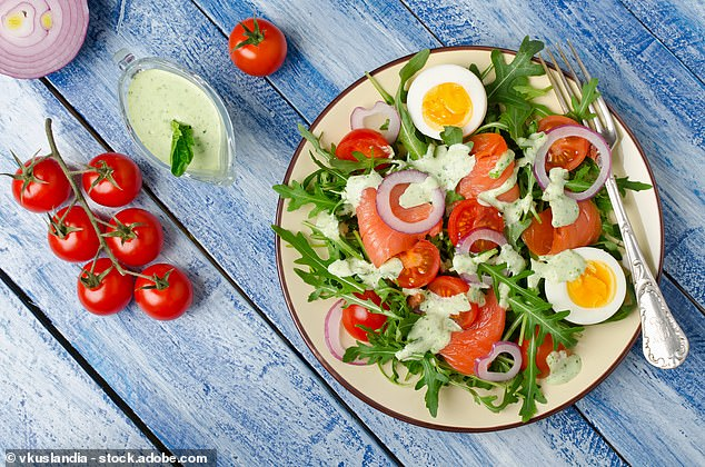 Tasty Salmon and Egg Salad