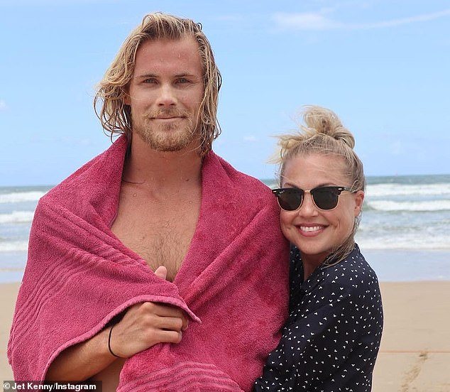 Jett Kenny (left) shared an emotional tribute to his sister (right) on Instagram, admitting he may 'not have always been the best brother' but that they 'loved one another unconditionally'