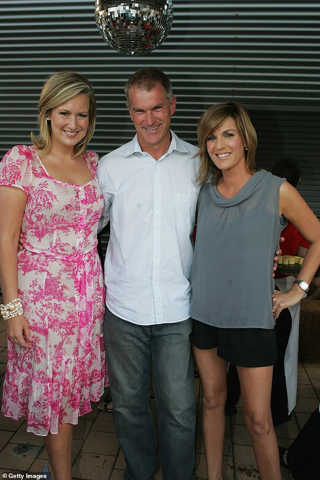 Reeve has been on and off Channel Seven for the past 40 years. Above, he poses with longtime colleagues Doyle and Kylie Gillies at a Seven Christmas party in 2007