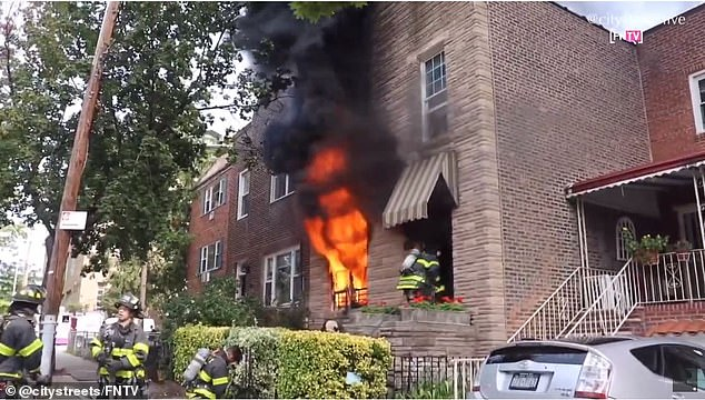 The house fire broke out Tuesday afternoon but was put out by 2pm