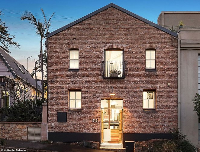 The old bucket factory turned modern family home at 38 Foucart Street in Rozelle, still fronted with the original facade