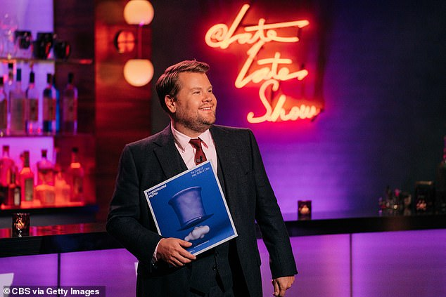 Safe at home:Prior to this week, Corden was one in a number of late night hosts to resume production of their shows from their studios, with scaled down audiences or none present