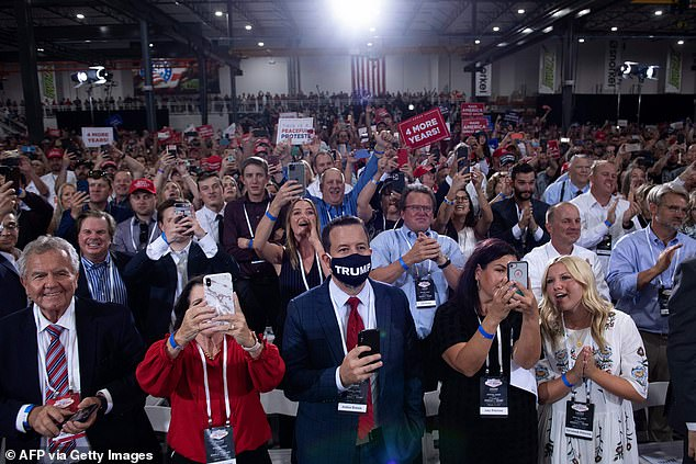 I hate to say it but I'm what you need,' President Trump told a cheering crowd of a few thousand supporters in Henderson, Nevada, at the weekend, where hardly any were wearing masks